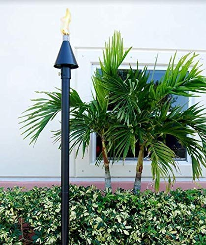 Big Kahuna Gas Torch (Tiki) Style -Black Cone Permanent Mount-, 2 Pack!, Landscape, LP, Propane, Natural Gas Torch, Gas Torch