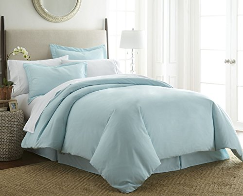 1800 Series 3 Piece Duvet Cover Set by Becky Cameron - Double-Brushed Microfiber - Twin/Twin Extra Long, Aqua