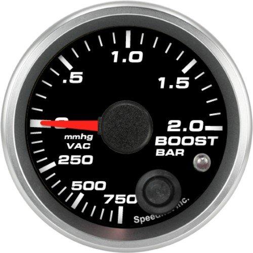 Speedhut GR20-BV01M Boost/Vac Gauge 750mmhg-0-2bar Metric (With Warning LED), 2-1/16'' by SpeedHut