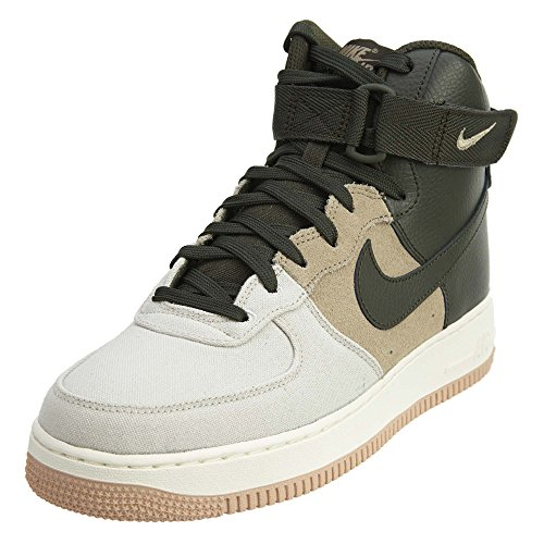 Khaki Mens Shoes - Nike Men's Air Force 1 High '07 Lv8 Light Bone/Sequoia Khaki Sail Basketball Shoe 11.5 Men US