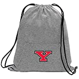Promoversity NCAA Youngstown State Penguins Adult Sweatshirt Cinch Bag,17.75'' x 14.5'',Athletic Heather