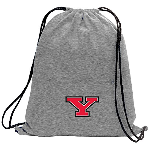 Promoversity NCAA Youngstown State Penguins Adult Sweatshirt Cinch Bag,17.75'' x 14.5'',Athletic Heather by Promoversity (Image #1)