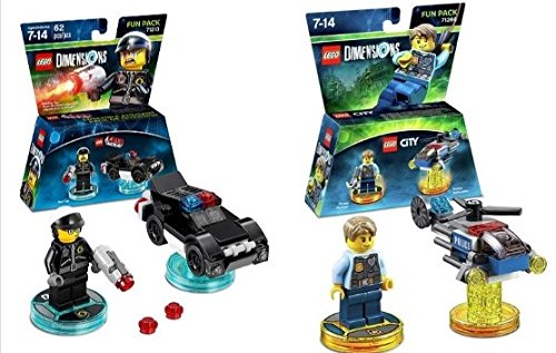 Lego Dimensions Rescue 911 Fun Pack Bundle of 2 - Lego City Fun Pack (71266) & Bad Cop Fun Pack ( 71213)