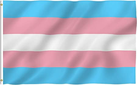 Amazon Com Anley Fly Breeze 3x5 Foot Transgender Flag Vivid Color And Fade Proof Canvas Header And Double Stitched Pink Blue Rainbow Flags Polyester With Brass Grommets 3 X