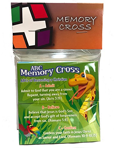 ABC Gospel Tract For Children By Memory Cross 25 Cards Per Pack 99779