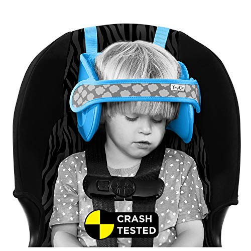 Car Seat Head Support - NapUp Child Head Support for Car Seat and Booster (Light Blue)