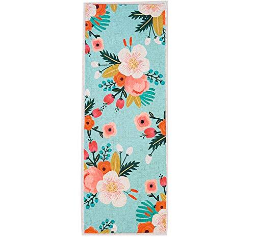 MR FANTASY Non Slip Kitchen Accent Area Rug Runner Floral Hallway Bathroom Runner Absorbent Kitchen Mat Doormat