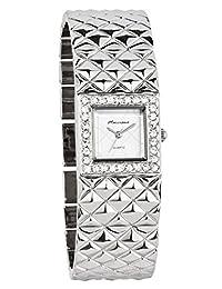 Marciano Women's | Fashion Silver Bangle Watch Stud Texture with Rhinestone | FC0164