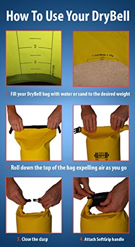 "Heavy Duty Dry Bag Dumbbell ""DryBell"" Waterproof Bag Sand / Water Weight"