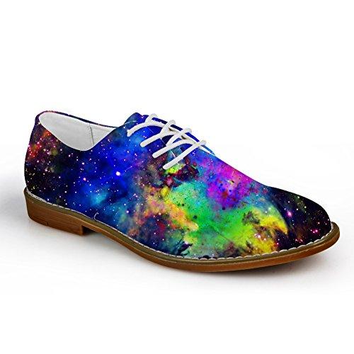 HUGS IDEA Galaxy Mens Fashion Lace Up Oxford Flats Shoes Galaxy 10 2sfSt