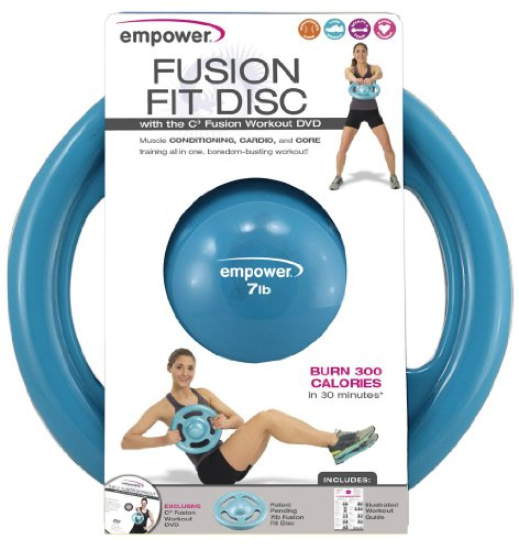 Empower Fusion Fit Disk with DVD, 7-Pound, Teal
