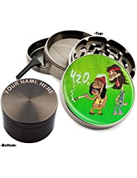 Bargain 420 Design Large Size Zinc Grinder With Your Name FREE - Gift Pack Item # 111315-159 compare