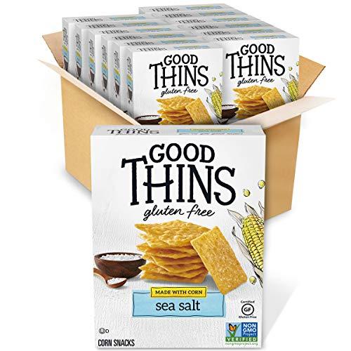 Good Thins Sea Salt Corn & Rice Snacks Gluten Free Crackers, 12 - 3.5 ounces Boxes