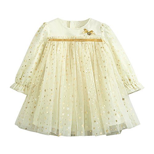 Mubenshang Dresses for Baby Girls Long Sleeves Toddler Dress Baby Dresses 3-6 Months Victorian Dress Baby 0-3-6-9-12-18 Months 2T 3T for $<!--$27.99-->