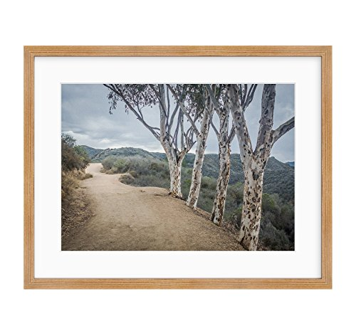Framed Photographic Print, Santa Monica Mountains Landscape Wall Art, Southern California Scenery, A Storm at Will Rogers'
