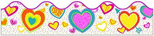 Hearts Scalloped Borders