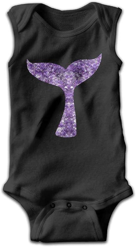 Purple Onesies Bodysuits as pictureNewborn Mermaid Tail