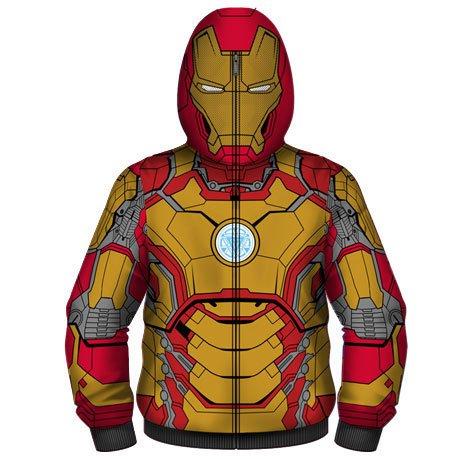 Men's Iron Man Mark 42 Costume Hoodie, Red -