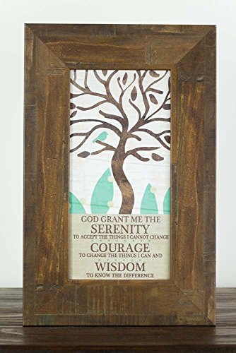 The Serenity Prayer God Grant Me Restoration Wood Tree Sign Art Decor 10x16