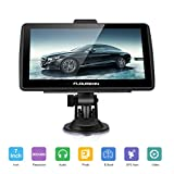 FLOUREON 7 inch Capacitive LCD Touch Screen Truck&Car GPS Navigation SAT Nav Navigator Lifetime Map Updates 8GB (BLUE)