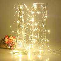 Timewanderer Warm White Led String Starry Fairy Light AA Battery Operated 3M/10Ft 30 Bright Micro LED Lights Ultra Thin Decorative Lights Silver Wire for DIY