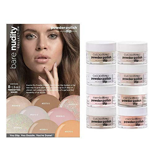 Cuccio Bare Nudity Collection - Powder Polish Dip System (Pack of 8) 0.5 oz