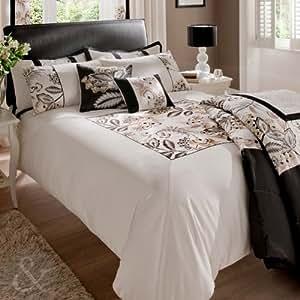 Satén de algodón colcha bordado - seda sintética manta para cama de matrimonio colcha o cama de matrimonio (manta para cama de matrimonio) 240 cm x 260 cm