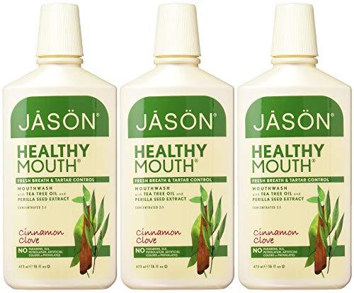(Jason Healthy Mouth Fresh Breath and Tartar Control Mouthwash, Cinnamon Clove, 16 Ounce (Pack of 3)        )
