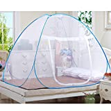 GRD Mosquito Nets, Portable Free Installation and Folding Nets Pop up Tent Mosquito Protection Double Bed,Single Bed Suitable for Adults Children and Babies Prevent Insect Hikers and Campers (180200)