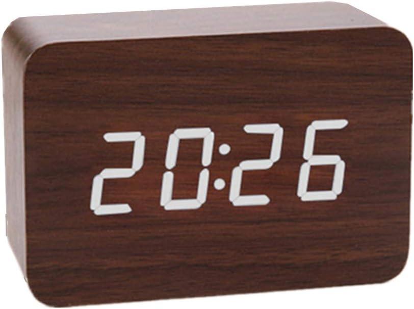 KunLS Reloj de Pared Digital Despertador fornite Reloj Despertador de proyección Relojes Digitales Relojes de Alarma de Noche El Reloj de Alarma White 2