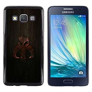 // PHONE CASE GIFT // Duro Estuche protector PC Cáscara Plástico Carcasa Funda Hard Protective Case for Samsung Galaxy A3 / Cartel de madera /