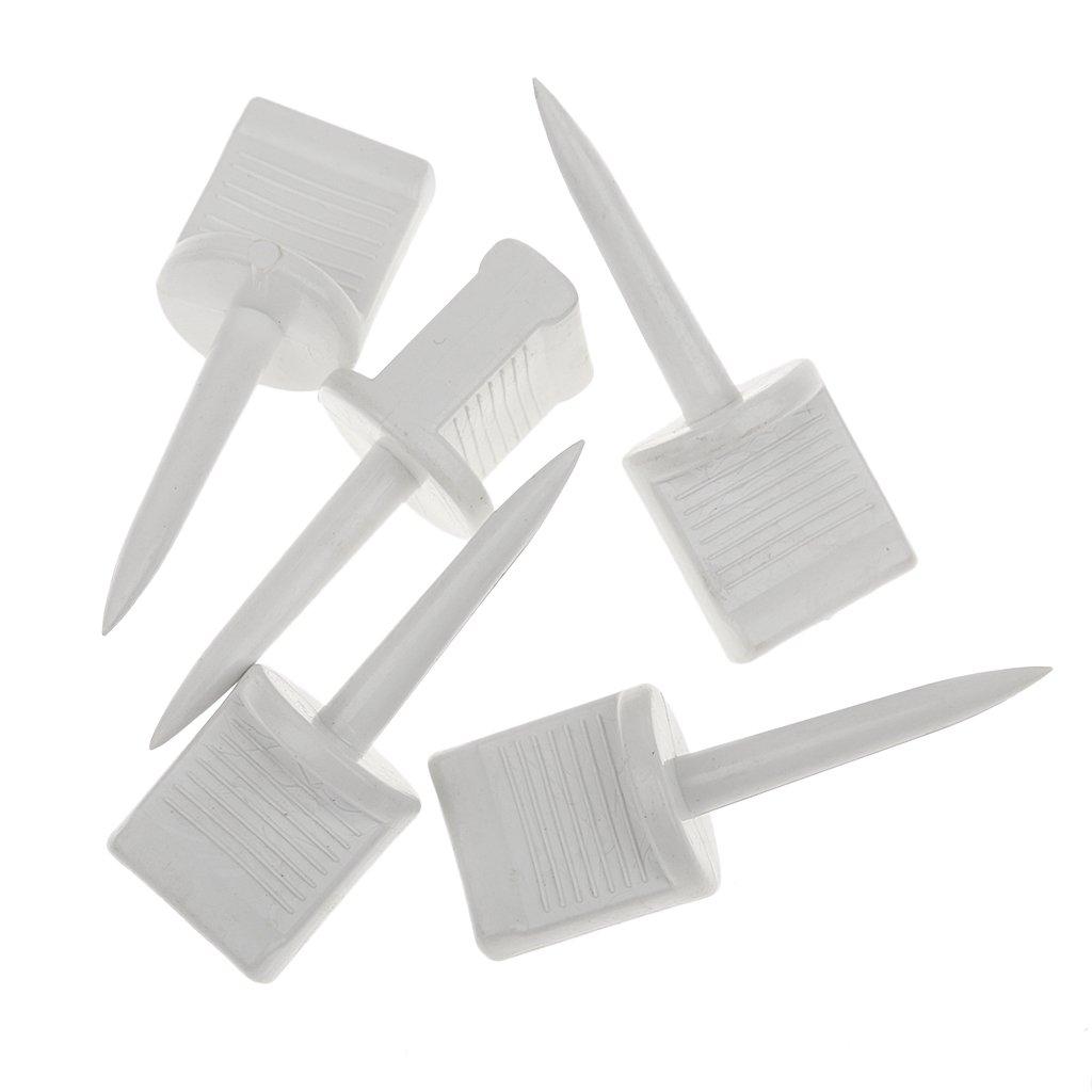 perfk 10pcs-Set Zielscheibe Scheibennagel Kunststoff Wei/ß