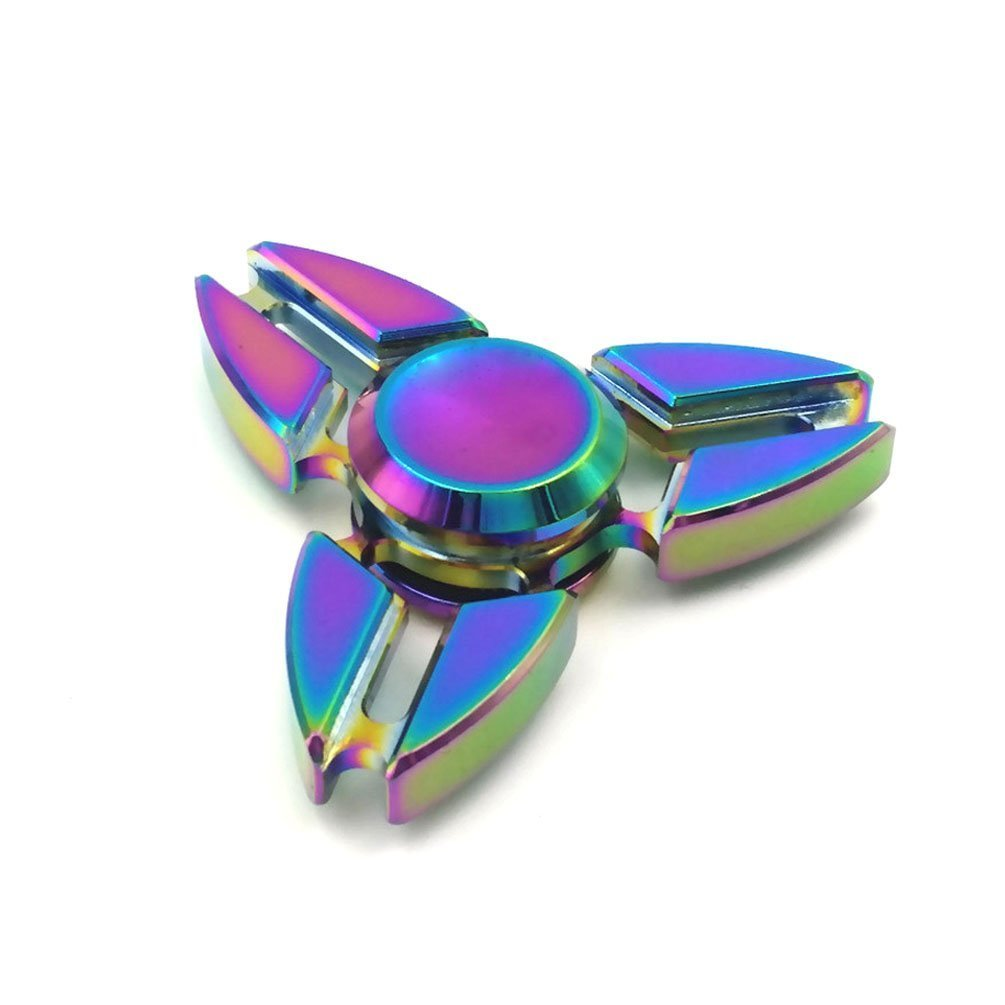 Rainbow Fidget Finger Spinner Hand Titanium EDC Bearing ...