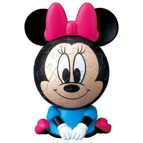 3D sphere puzzle Big Face Mini Disney 60 Large Piece Minnie Mouse ( diameter of about 7.6cm)