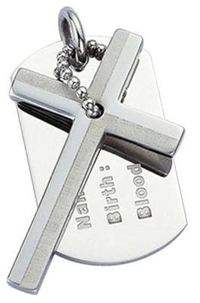 no 100011 antial/érgico Cruz colgante de acero inoxidable