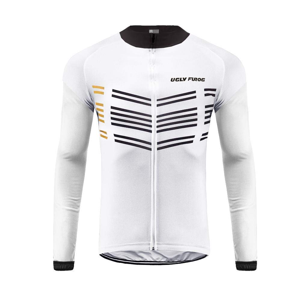 BurningBikewear Uglyfrog Hombres Team Ciclismo Ropa Manga Larga Pantalones Kit Camisa de Secado R/ápido Ropa al Aire Libre de la Bicicleta Protector Solar CXMX02F