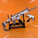 Fortnite Keychain Gold Scar Large (6.7 inch) Exclusive Collectible, Birthday Gift (Scar Riffle)