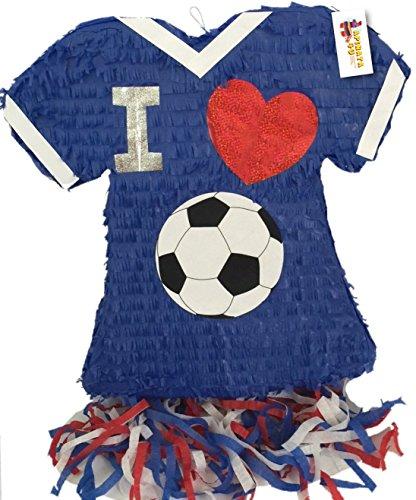 I Love Soccer Jersey Pinata]()