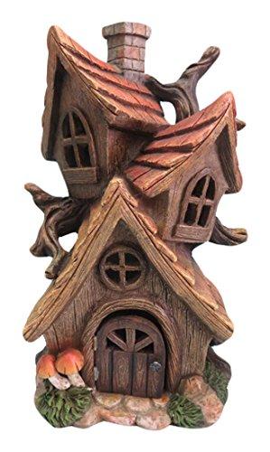 Hi-Line Gift Ltd Fairy Garden Tri-House with Chimney