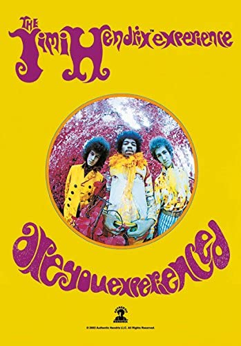 Heart Rock - Bandera Original ''Jimi Hendrix Are You Experienced'' de Tela. Multicolor. Medidas: 110 x 75 x 0,1 cm