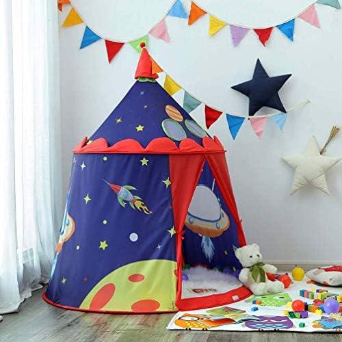Shuang Tienda de Juegos Castle con Naves espaciales para niños y niños, casa de Juegos Interior y Exterior, Tienda portátil con Bolsa de Transporte/Regalo para niños