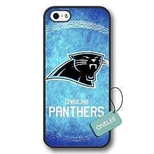 Onelee(TM) - NFL Team Logo iPhone 5 case - Custom Personalized Carolina Panthers Hard Plastic iphone 5S Cover - Black01 by heywan