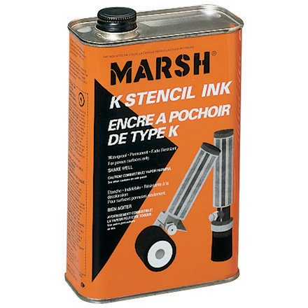 Marsh Quart of Black Stencil Ink (STMA45) by Marsh