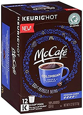 McCafe Colombian Dark Roast Coffee K Cups, 12 Count (Pack of 3)