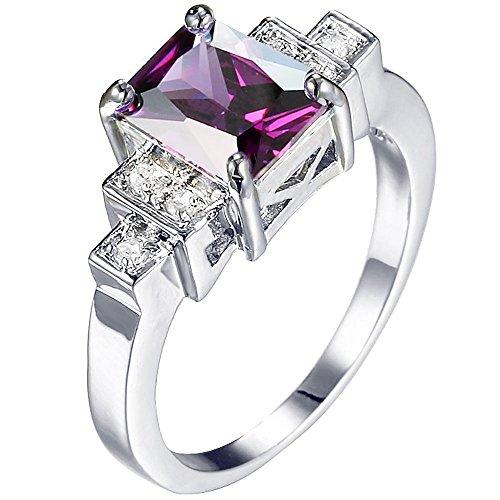3 Stone Purple Ring - 3