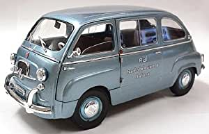1961 Fiat 600 Multipla Radio Televisione Italiana [Mini Miniera T74310], Radio Televisione Italiana, 1:18 Die Cast