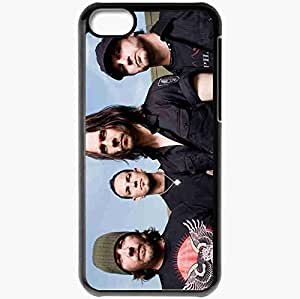 Personalized iPhone 5C Cell phone Case/Cover Skin Alter Bridge Band Sky Caps Chain Black