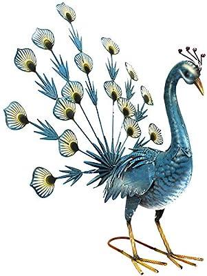 Exótico azul pavo real Pájaro decorativa jardín Escultura Estatua Figura decorativa grande 59 cm: Amazon.es: Jardín