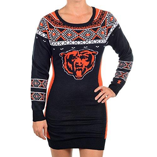 NFL Football 2015 Womens Big Logo Sweater Dress (Chicago Bears 744a42038