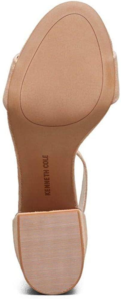 Kenneth Cole New York Womens Hannon Block Heeled Sandal with Ankle Strap Buff 8.5 M US